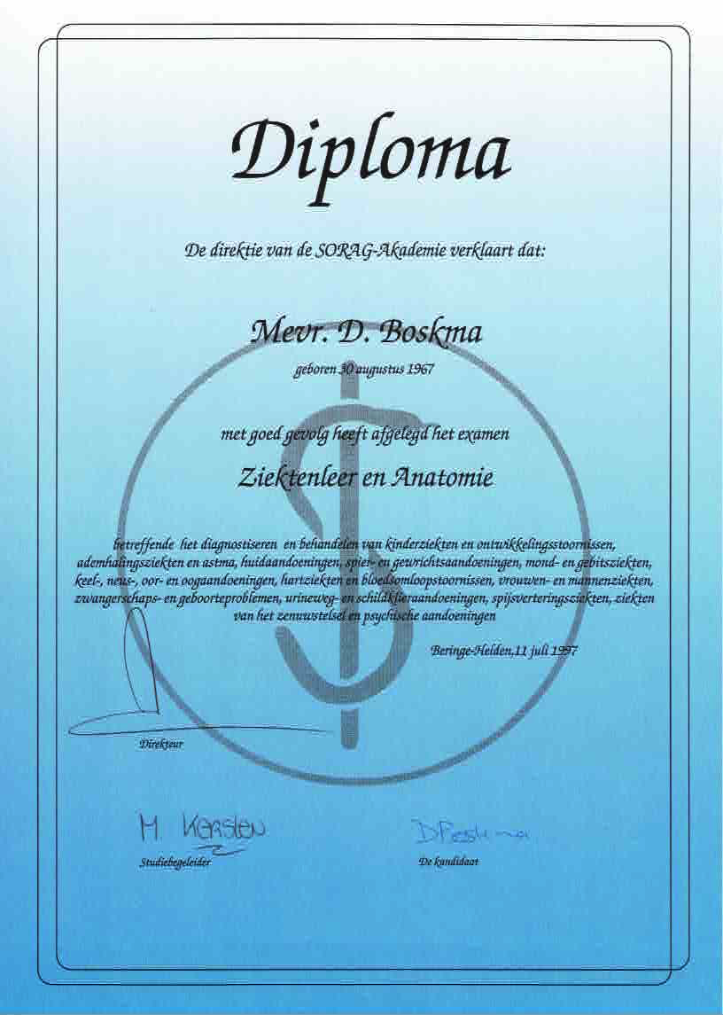 Pathology and Anatomy Diploma