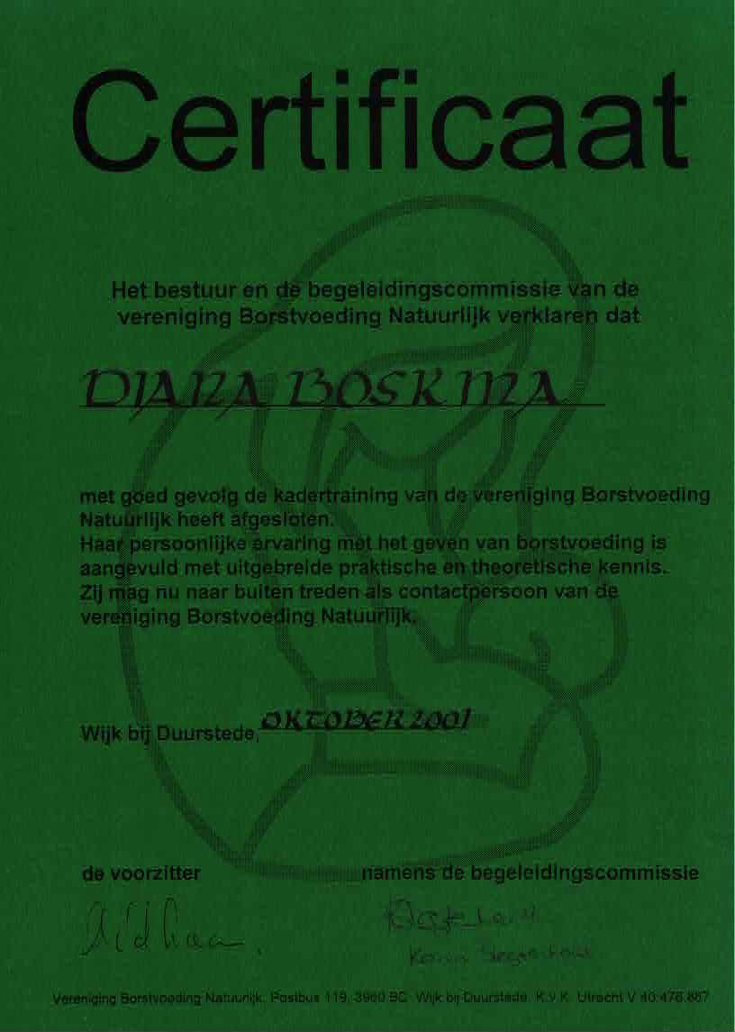 VBN Certificate