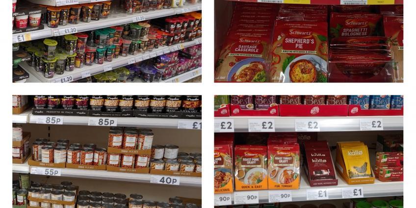 Supermarket shelf