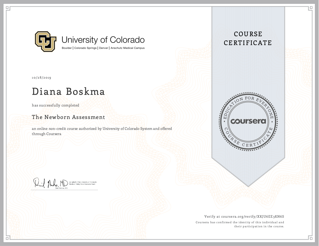 Newborn Assessment Colorado University