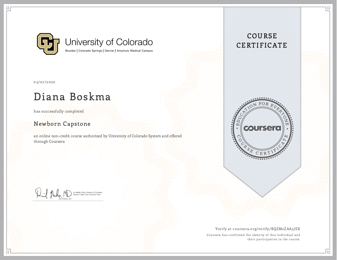 Newborn Capstone Colorado Uni