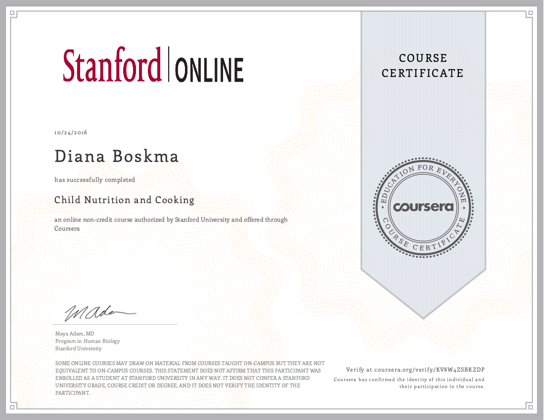 Stanford Child Nutrition and Cooking