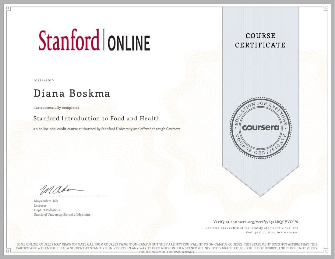 Stanford Food and Health