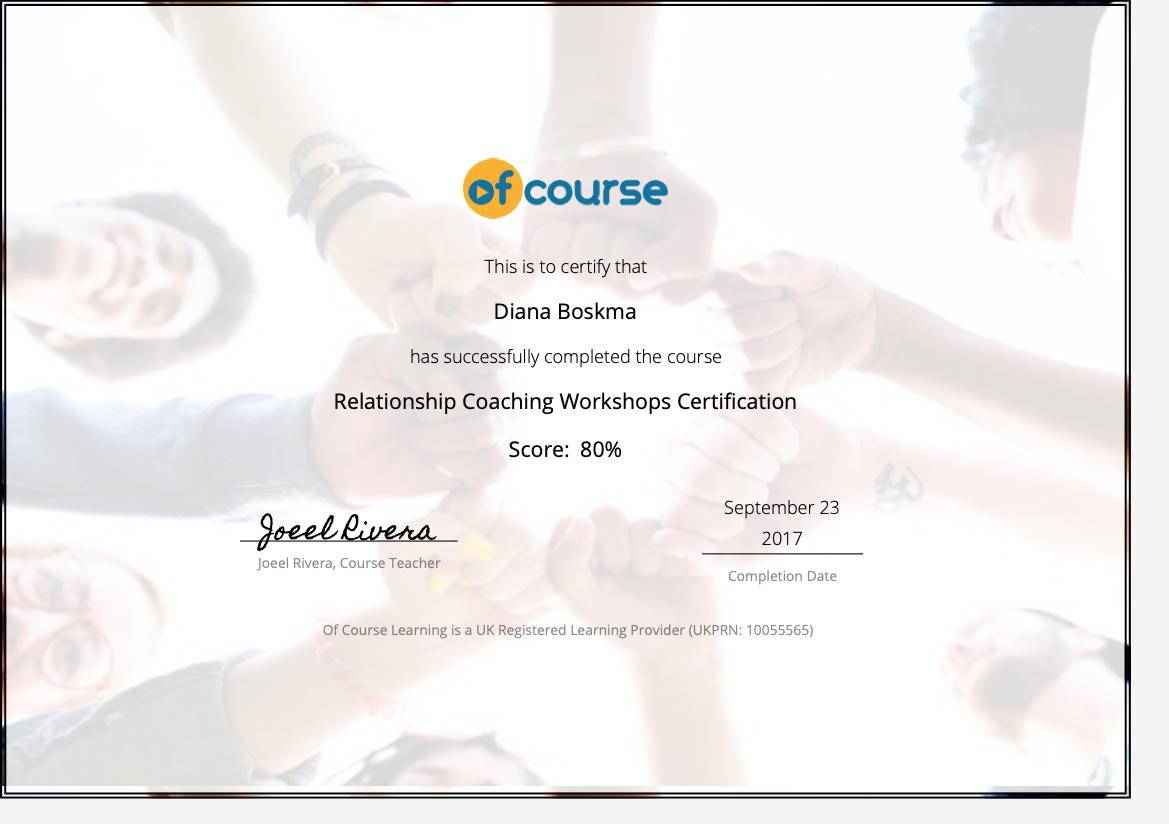 Relationship workshops