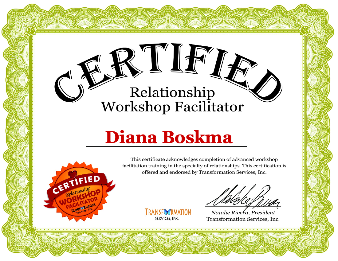 Relationship workshop facilitator